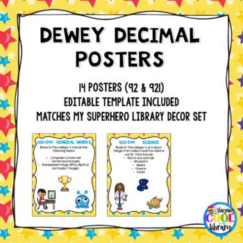 Dewey Decimal Posters (part of Superhero decor pack)