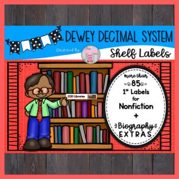 Dewey Decimal System Shelf Labels