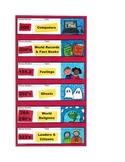 Dewey Decimal Shelf Labels for Library
