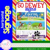 Dewey Decimal Signage - Horizontal