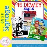 Dewey Decimal Signage -  8x5 x 11