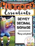 Dewey Decimal Signage using REAL PICTURES- Dewey Decimal for Libraries