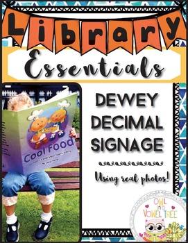Dewey Decimal Signage using REAL PICTURES- Dewey Decimal for Libraries