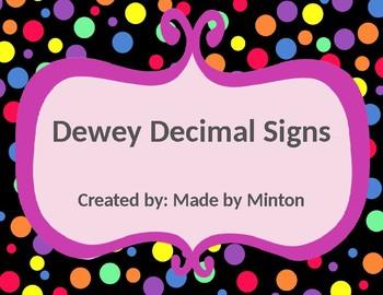 Dewey Decimal Signs