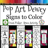 Dewey Decimal Posters and Signs Coloring/ Maker Space, 200