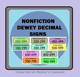 Dewey Decimal Signs for Nonfiction