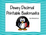 Dewey Decimal System Bookmarks by KMediaFun