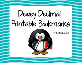 This is a photo of Modest Dewey Decimal System Printable Bookmarks