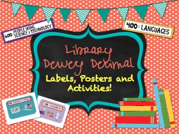 Dewey Decimal System Bundle | Labels | Posters | Task Cards and Activities