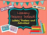 Dewey Decimal System Bundle | Labels | Posters | Task Card