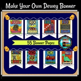 Dewey Decimal System Make Your Own Banner Coloring and Find A Book Activity