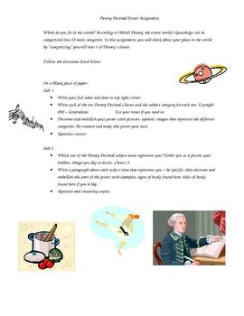 Dewey Decimal System Poster Assignment