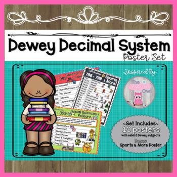 Dewey Decimal System Poster Set + Bonus Poster