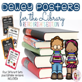 Dewey Decimal System Posters - Retro Brights (Editable Versions Included)
