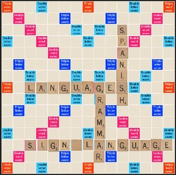 Dewey Decimal System: Scrabble Signs