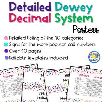 Dewey Decimal System Signs and Posters