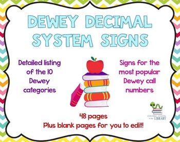 Detailed Dewey Decimal System Signs and Posters - Chevron
