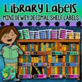 Dewey Decimal System labels (Mini shelf labels)