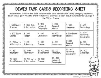 Dewey Decimal Task Cards Set #4