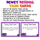 Dewey Decimal Task Cards for Google Drive