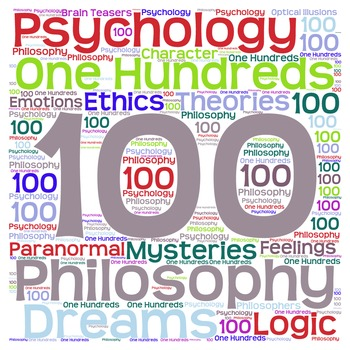 Dewey Decimal Word Cloud 100s