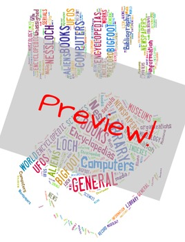 Dewey Decimal Word Cloud Posters