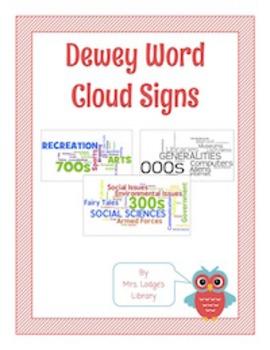 Dewey Decimal Word Cloud Signs