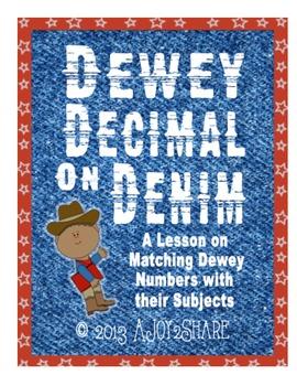 """Dewey Decimal on Denim"": Matching Dewey #'s with Subjects"