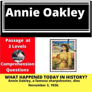 Annie Oakley Differentiated Reading Passage, Nov. 3