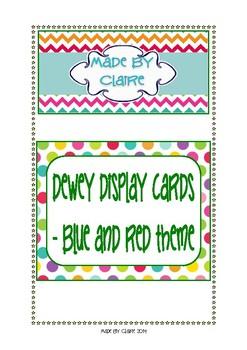 Dewey Display Cards