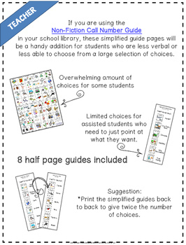 Dewey Library Guide Simplified for Special Needs