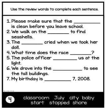 Journeys 2nd Grade Spelling Activities Unit 4