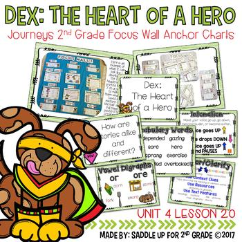 Dex: The Heart of a Hero Focus Wall Anchor Charts and Word Wall Cards