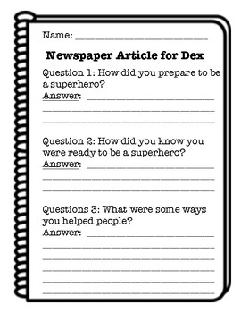 Dex: The Heart of a Hero Interview, Journeys 2nd Grade
