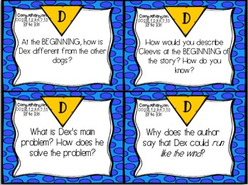 Dex: The Heart of a Hero Review Task Cards for Houghton Mifflin Journeys
