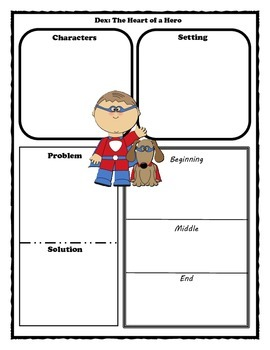 Dex: The Heart of a Hero Story Map Graphic Organizer