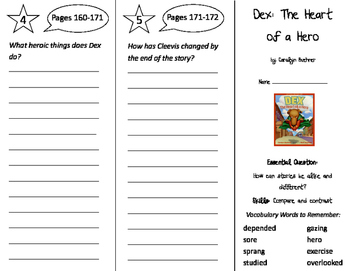 Dex: The Heart of a Hero Trifold - Journeys 2nd Grade Unit 4 Week 5 (2011)