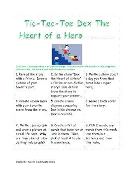 Dex the heart of a hero tic-tac-toe