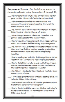 Dexter The Tough (Margaret Peterson Haddix) Novel Study / Reading Comprehension