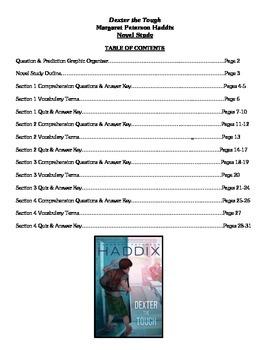 Dexter the Tough (Haddix) - Novel Study