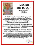 Dexter the Tough Vocabulary Bingo