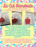 Speech and Language Di-Cut Parent Handouts!
