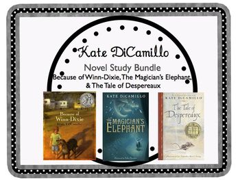 DiCamillo Bundle Because of Winn-Dixie, Despereaux, &The Magician's Elephant