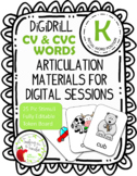 DiGiDriLL Articulation Materials for Initial K in CV/CVC Words