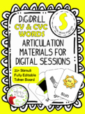 DiGiDriLL Articulation Materials for Initial S in CV/CVC Words