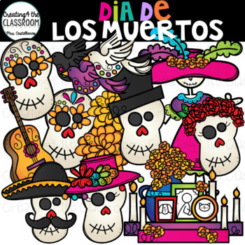 Dia De Los Muertos Clip Art {Day of the Dead Clip Art}