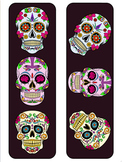 Dia De Los Muertos - Colorful Skulls Banner (Plus Coloring Pages)