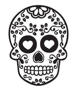 Dia De Los Muertos Coloring Page & Reading Comprehension-