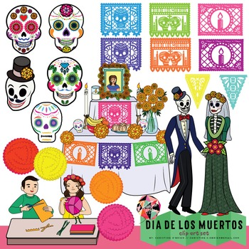 Dia De Los Muertos Clip Art // Day of the Dead Clip Art