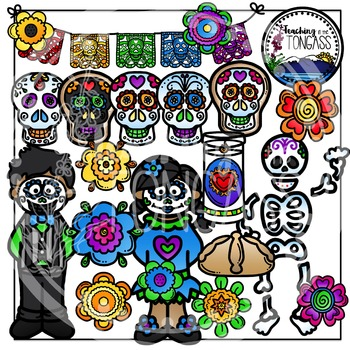 Dia De Los Muertos Clipart (Day of the Dead Clipart)